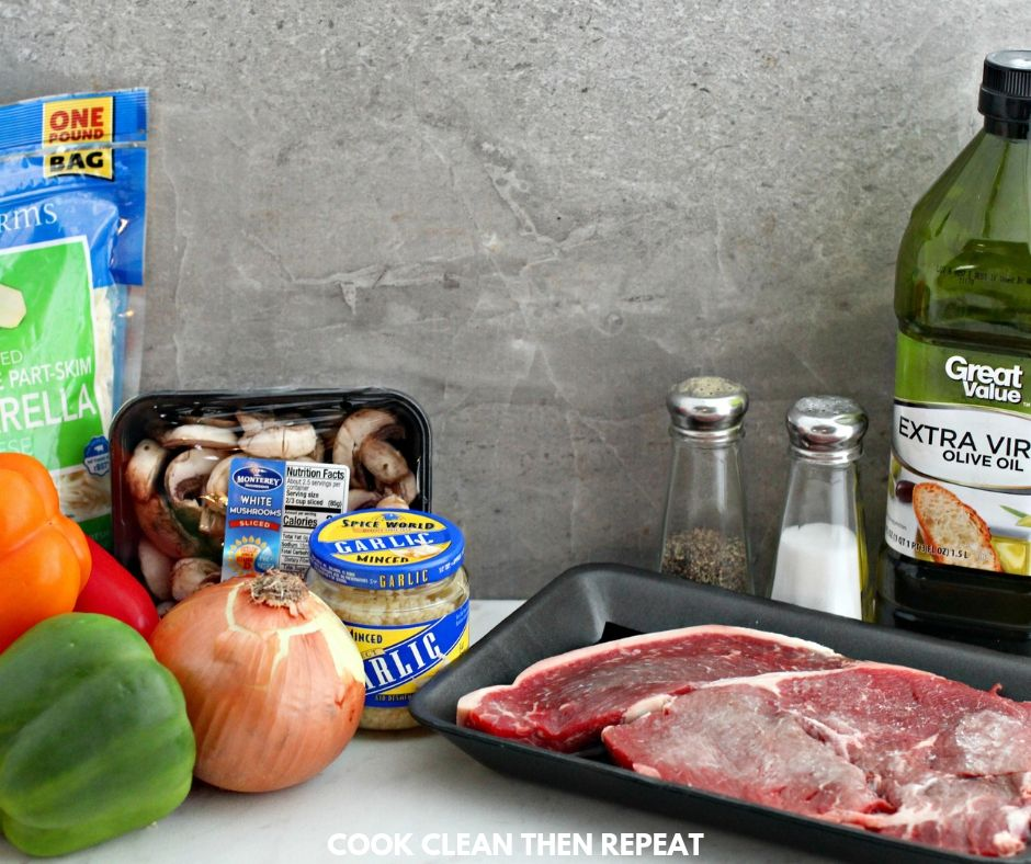ingredients needed for cheesesteak stuffed peppers