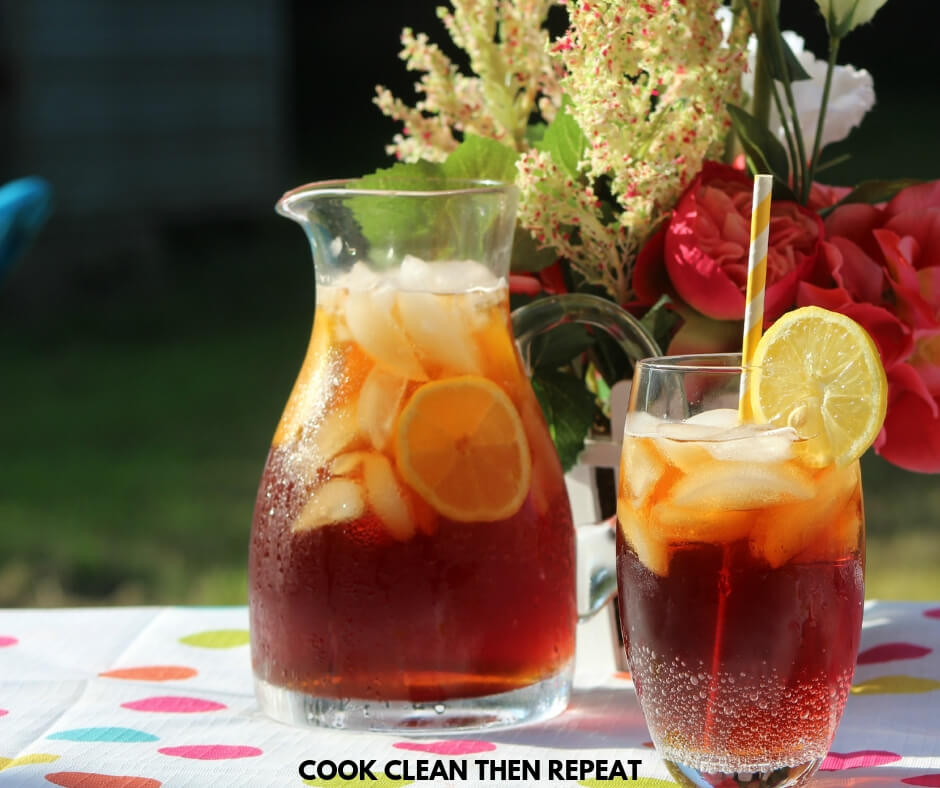 Easy To Make Sweet Tea Recipe Cook Clean Repeat