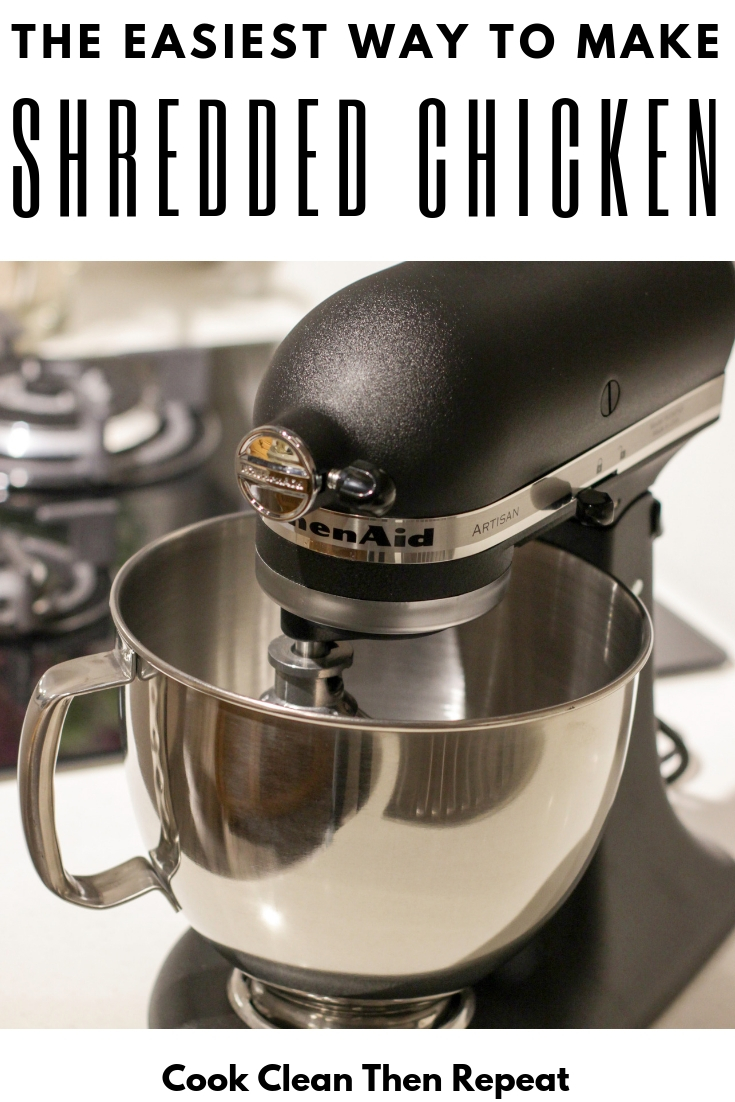 Here's the thing...making shredded chicken does not have to be tedious and tiring. I'm going to share with you today my ultimate kitchen hack for making slow cooker shredded chicken!