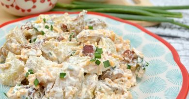 finished loaded baked potato salad