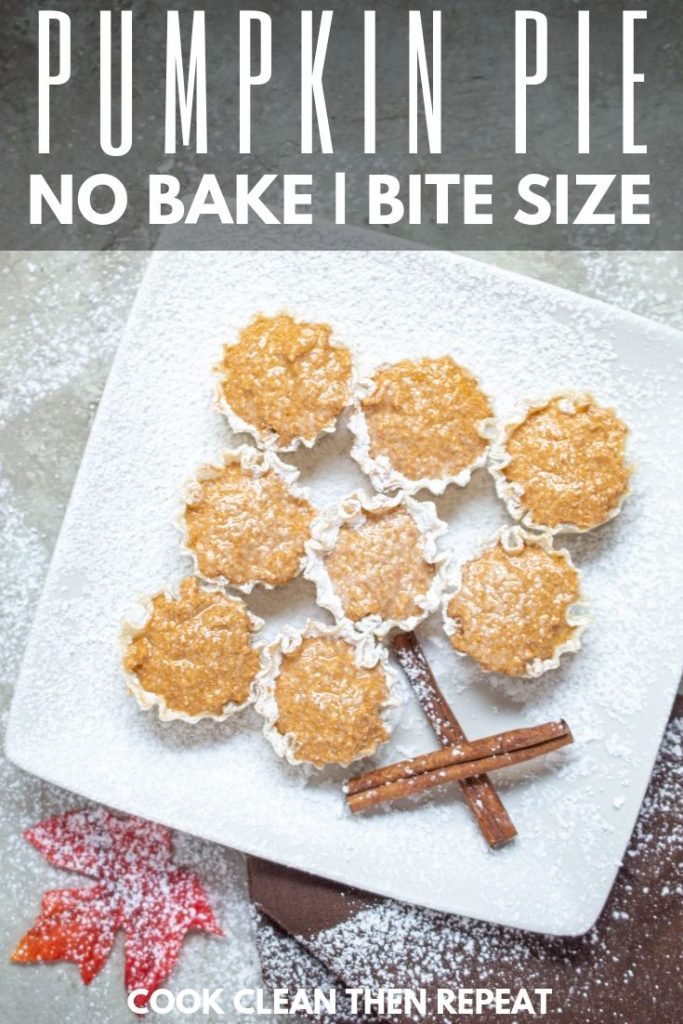 Finished pie bites in a pin style image.