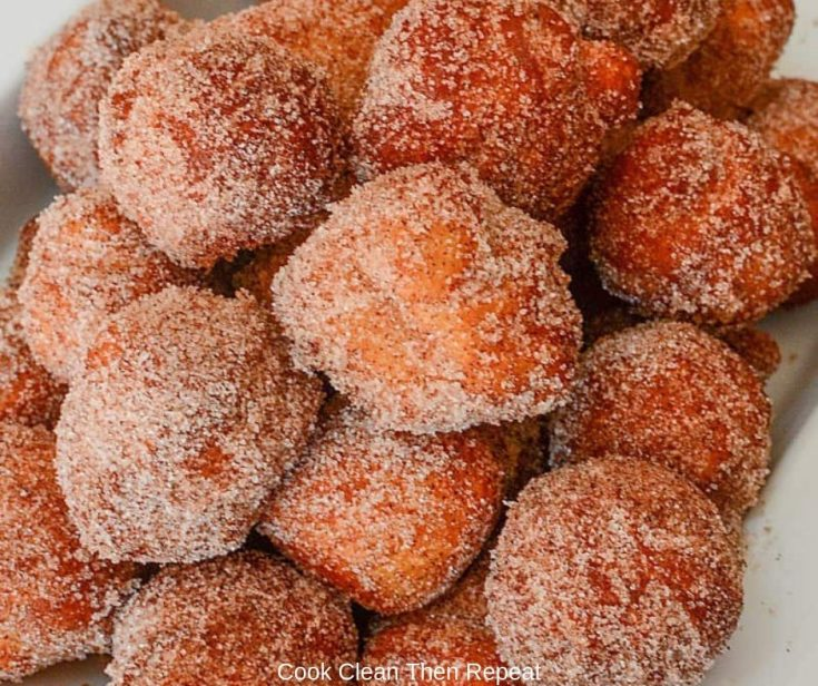 Churro Donut Holes Recipe from Biscuit Dough