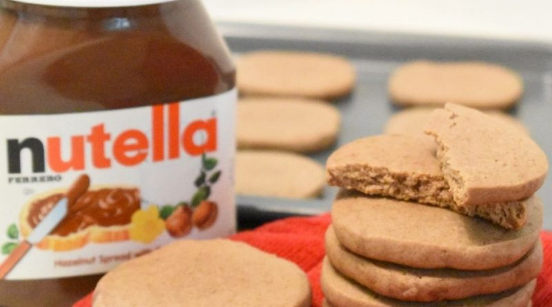 Close up of finished Nutella cookies