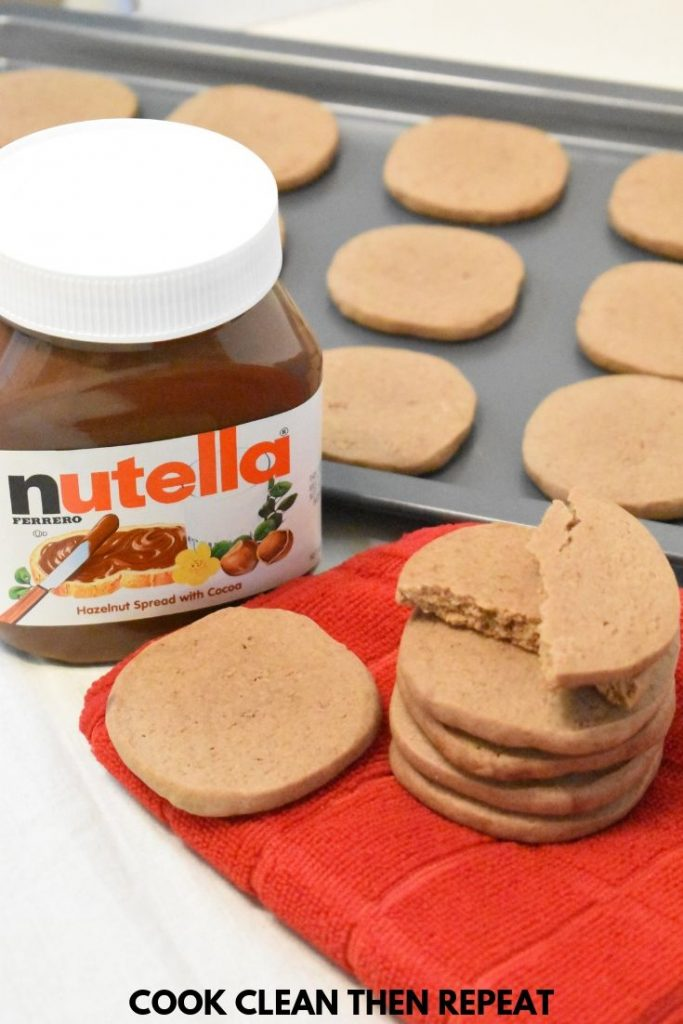 Tall Image of Nutella Cookies
