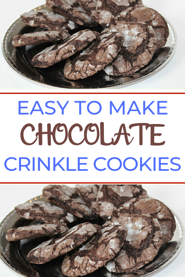 You can make soft and chewy crinkle cookies with just four simple ingredients. Start with your favorite cake mix and from there it just gets easier. These are a great cookie to enjoy with a cold glass of milk. #cookies #cookierecipes #cakemixcookies