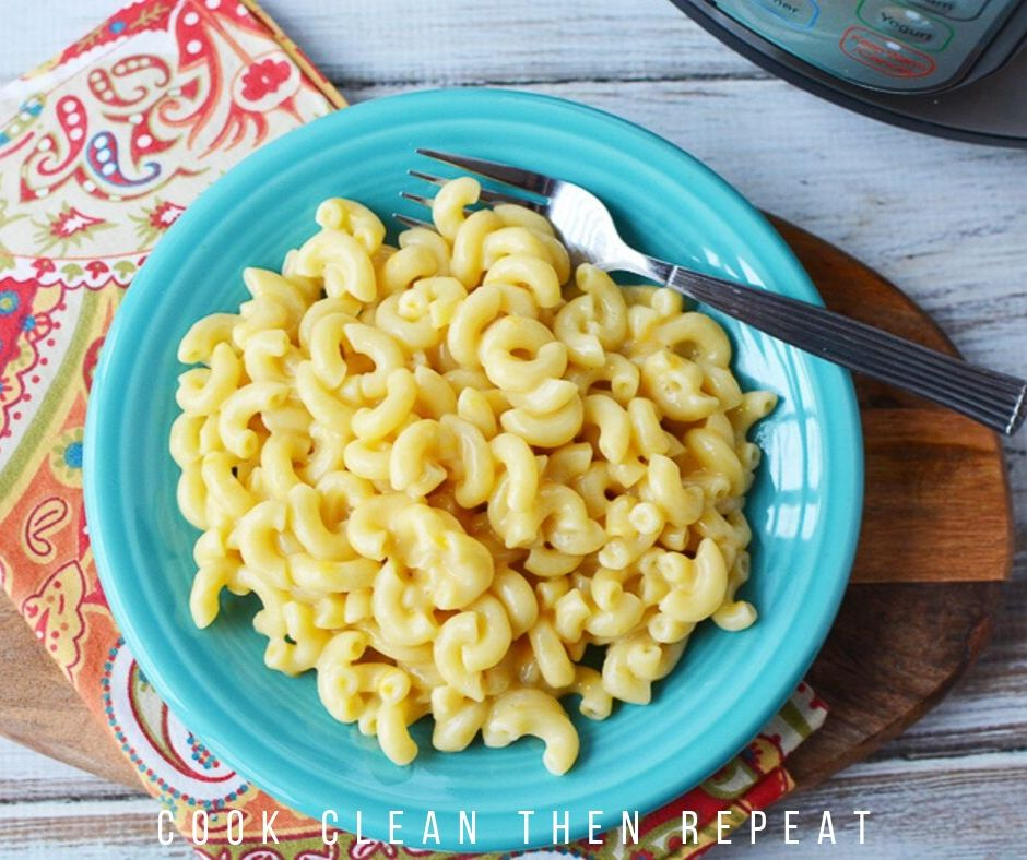 Finished Instant Pot Mac and cheese recipe.