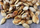 Making maple roasted pumpkin seeds is a fall tradition around here. We love to roast the pumpkin seeds with this maple sugar seasoning. It makes them sweet, crunchy, and a little bit savory as well.