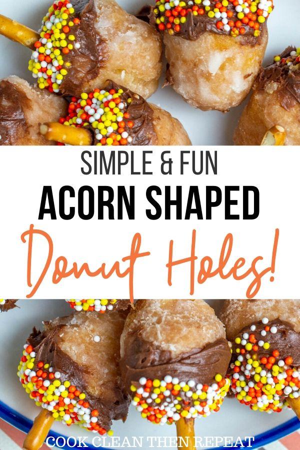 Pin for acorn donut holes recipe