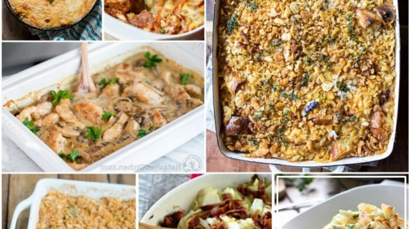 Collage of casseroles