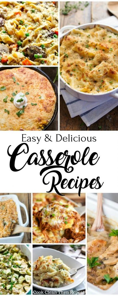 Tall Pin for Easy Casserole Recipes