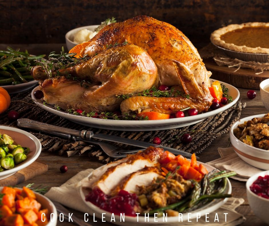 featured image showing a thanksgiving meal on the table ready to eat.