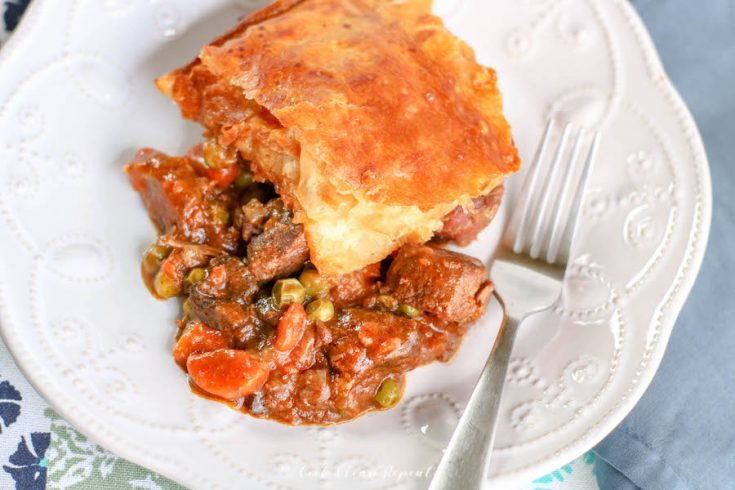 Featured image for the beef pot pie recipe.
