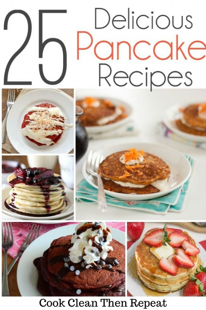 Collage style pancake recipes pin