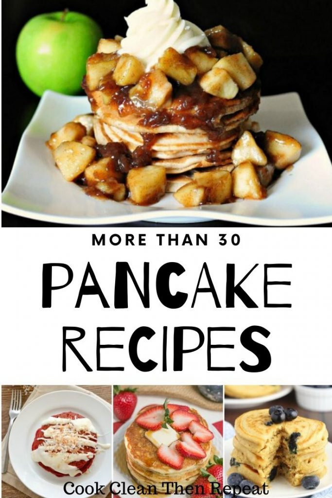 Pin for pancake recipes collage style
