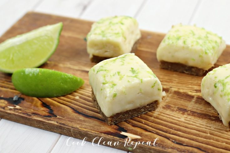Featured image shows the finished key lime pie recipe for fudge.