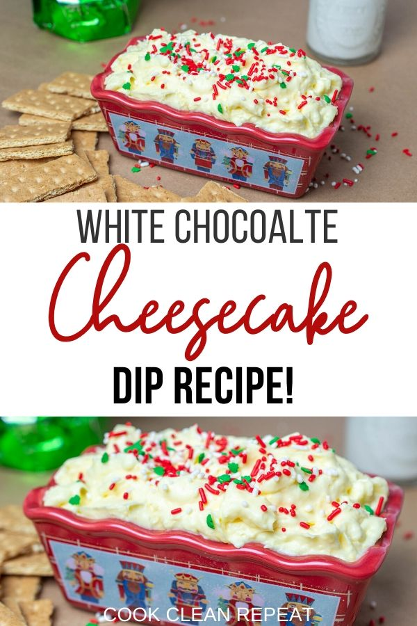 Pin for the cheesecake dip recipe.
