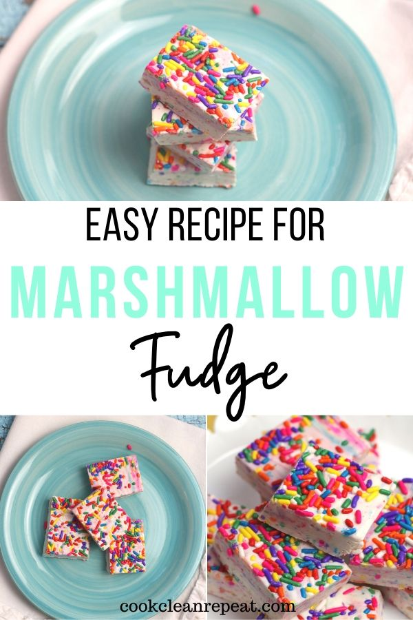 Another gorgeous pin for the finished marshmallow fudge recipe.