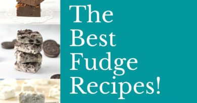 Featured image showing the title for the page as well as the fudge recipes!