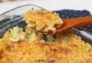 A scoop of the delicious Mac and cheese recipe.
