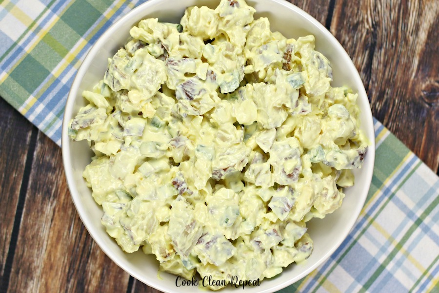 Featured image showing the finished potato salad from Ruby Tuesday in a dish ready to be served.