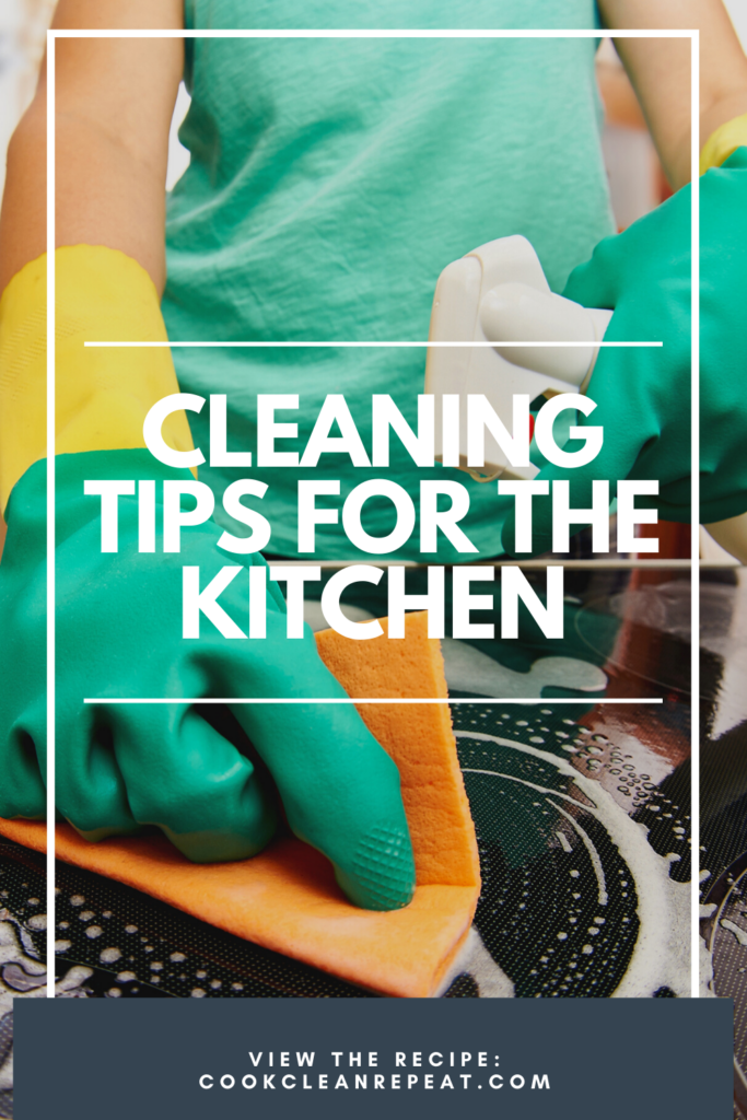 Pin showing the cleaning tips for the kitchen in action