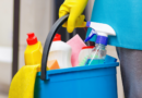 Featured image showing cleaning products ready to be used.