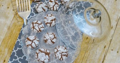 Featured image showing the finished brownie cookies recipe ready to eat.