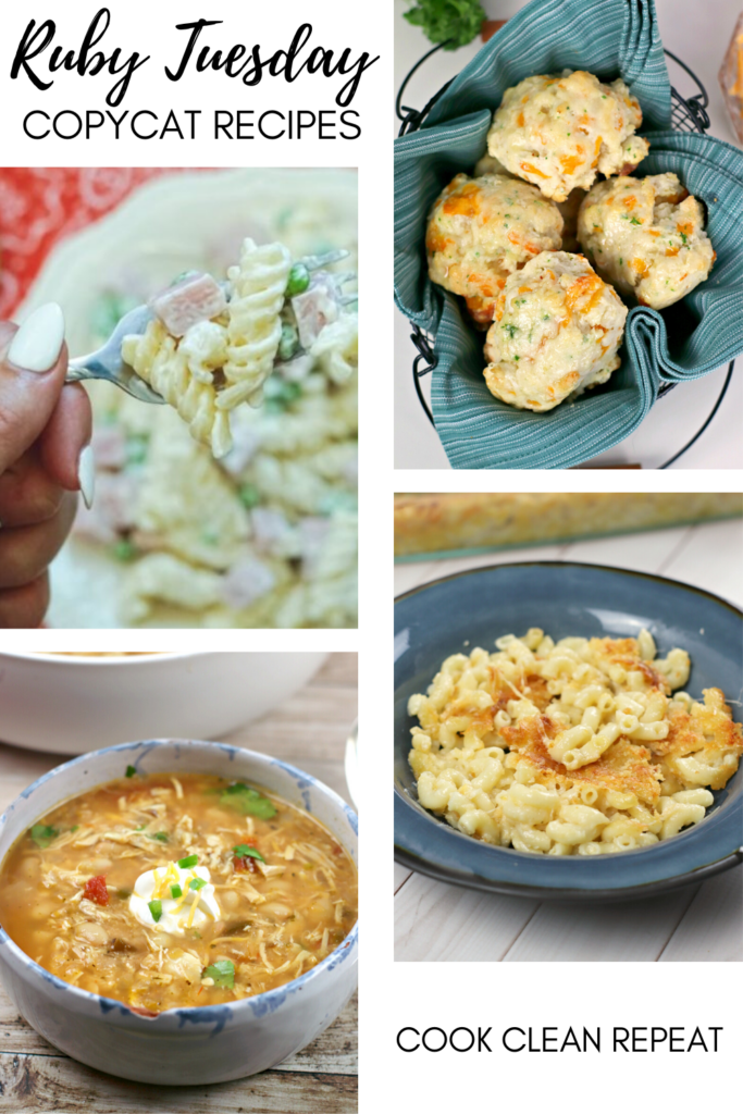 These Ruby Tuesday copycat recipes make eating at home so much more fun! Make your favorite restaurant meals in your kitchen at home.