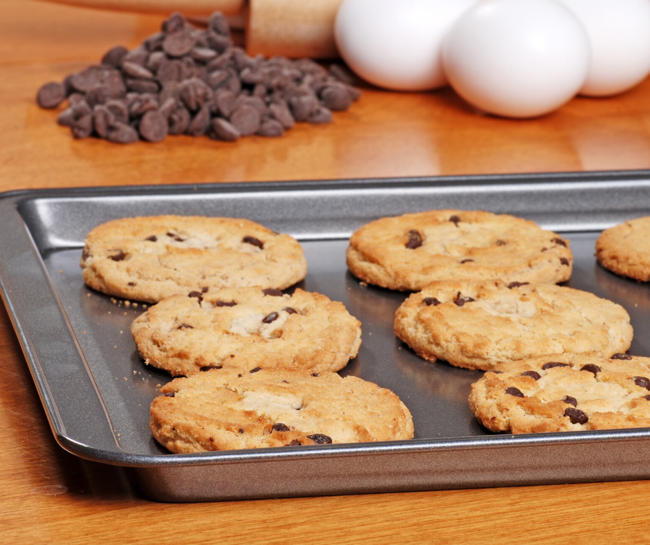 Featured image showing a cookie sheet so we can learn how to clean non stick cookie sheets!