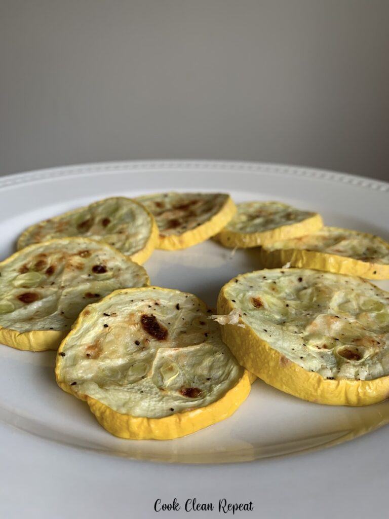 A close up view of the delicious baked squash ready to be enjoyed.