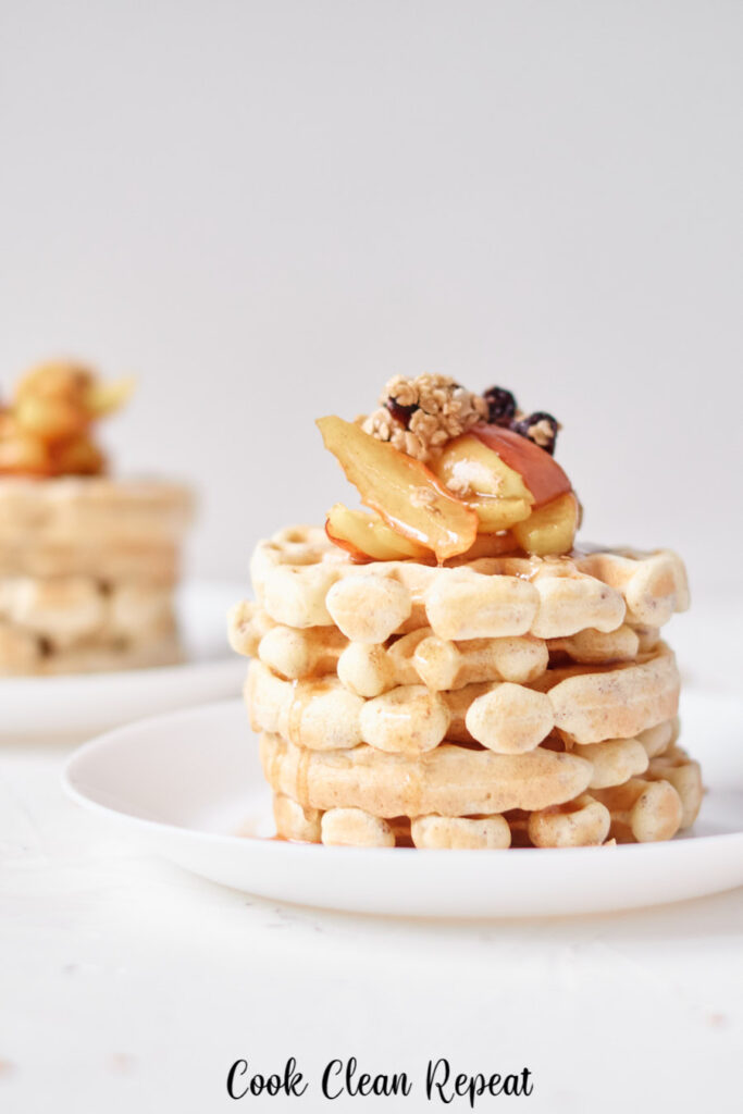 A close up of a stack of the finished recipe ready to be shared or enjoyed.