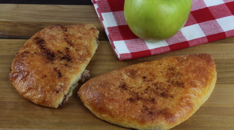 Featured image showing the finished apple hand pies with canned pie filling ready to eat.