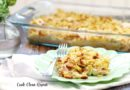 Featured image showing the finished chicken and yellow squash casserole served up and ready to be enjoyed.