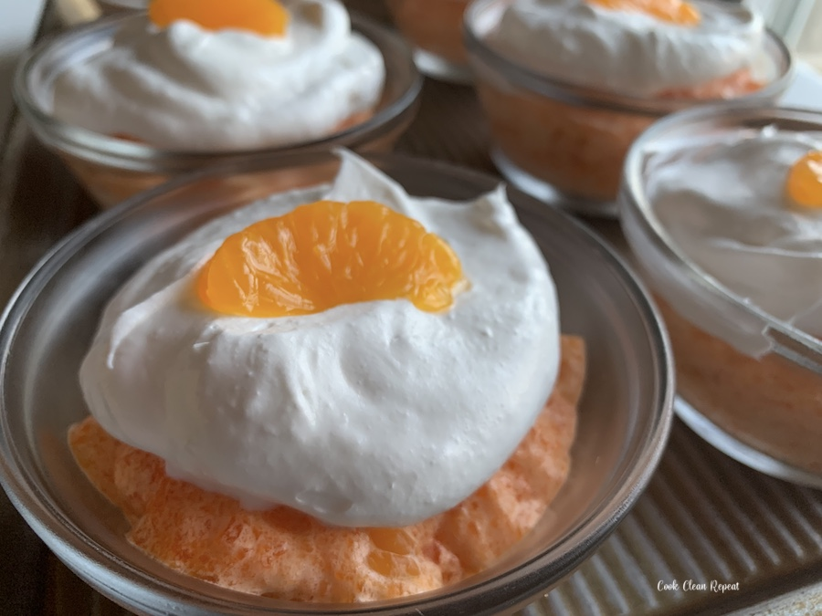 Featured image showing the finished whipped jello salad mousse ready to serve.