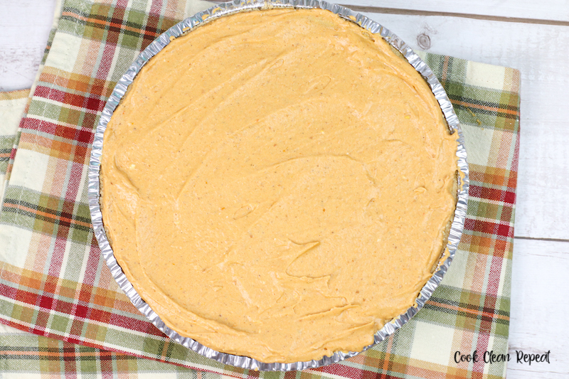 filling added to the graham cracker crust.