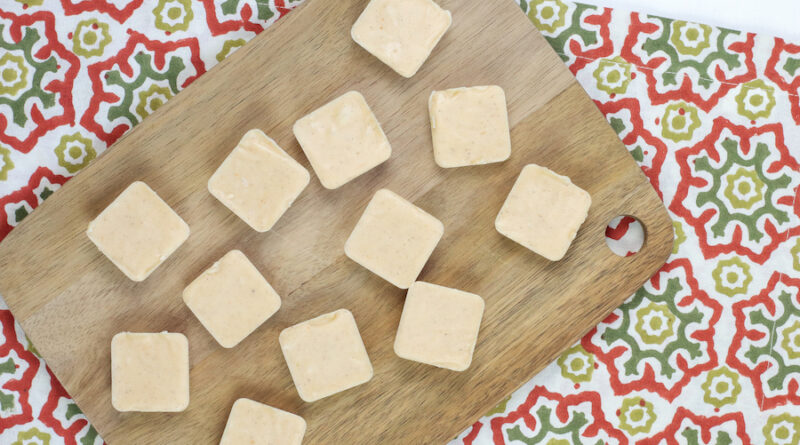 Featured image showing the finished pumpkin fudge ready to share.