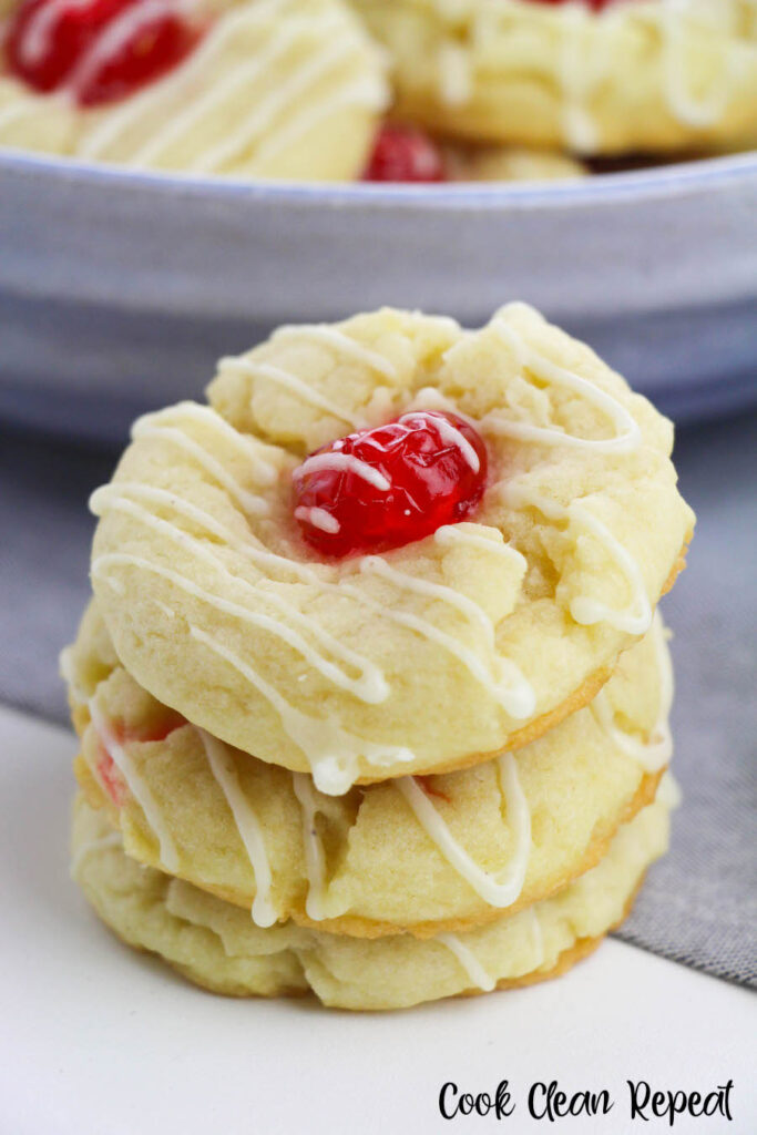A close up of the stack of eggnog cookies ready to eat.