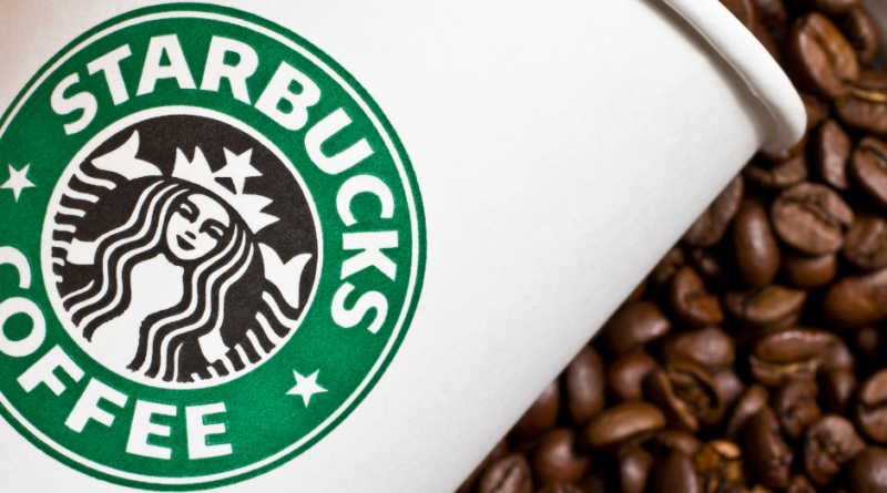 Featured image showing a Starbucks copycat recipes coffee cup in a pile of coffee beans.