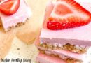 Featured image showing the finished strawberry cheesecake bars ready to be enjoyed.