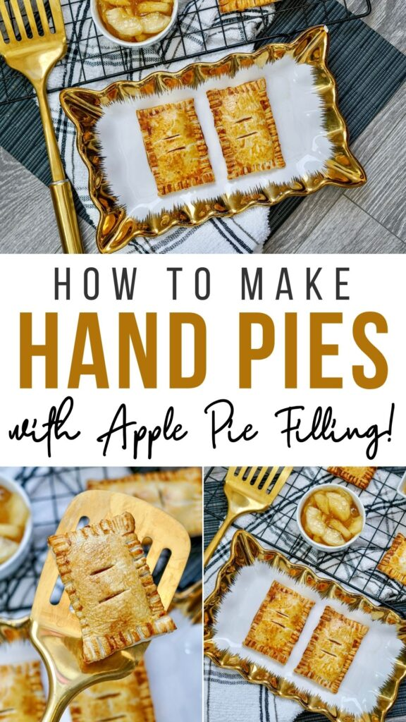Pin showing finished pies ready to eat with title across the middle.