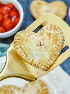 Featured image showing the finished cherry hand pie ready to be served.