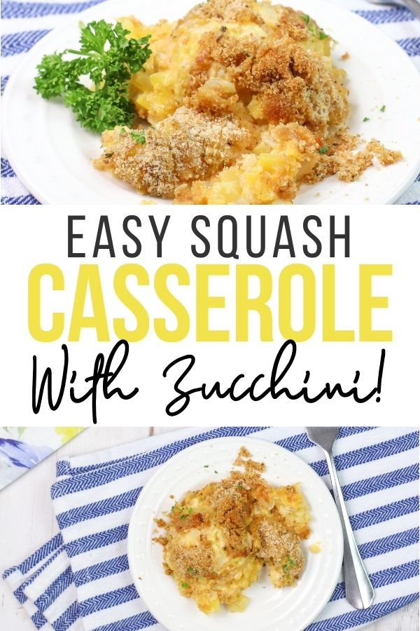 This simple recipe for squash and zucchini casserole is great for the spring and summer when zucchini and squash come into season!