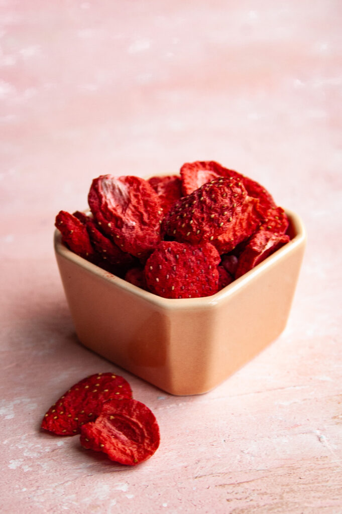 Another look at freeze dried strawberries.