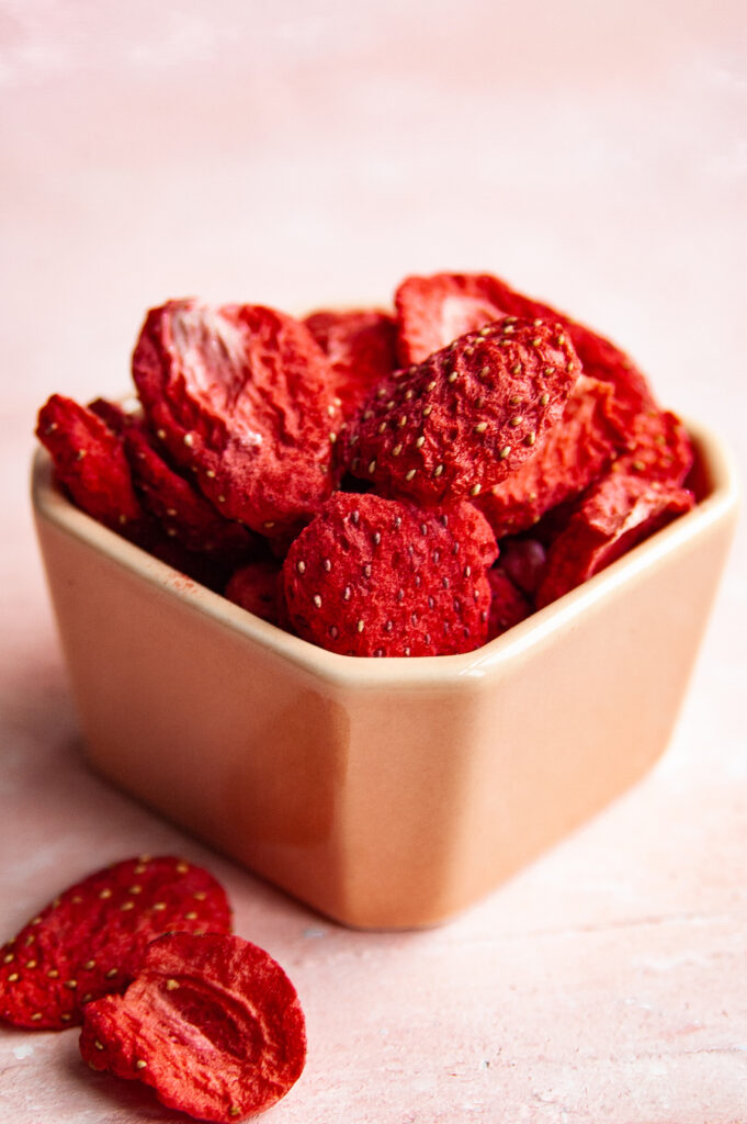 Freeze dried strawberries.