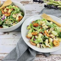 Featured image showing the finished BLT pasta salad recipe.