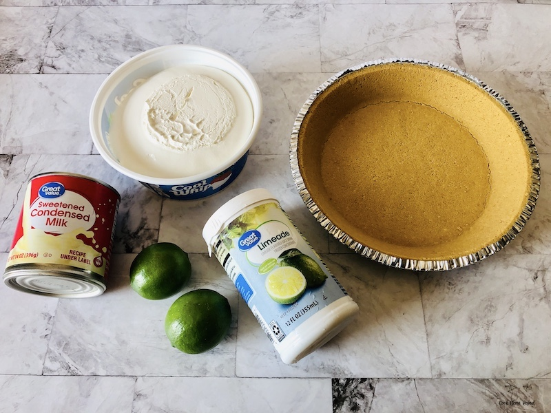 ingredients needed to make easy no bake key lime pie.