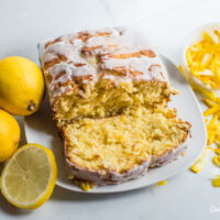 Featured image showing the finished lemon summer squash bread sliced and ready to eat.
